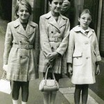 Annabel, Marcelle and Sally in George St Sydney in 1968