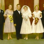 The wedding party, September 25th, 1956