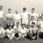 Conservatorium staff cricket team; Ray was the wicket keeper middle row right. He almost chose cricket over music (and bowled an invisible ball into every room he entered throughout his life)