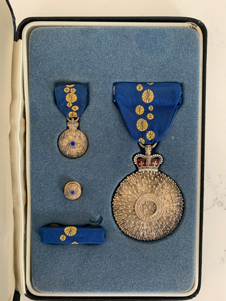Ray's Order of Australia Medals